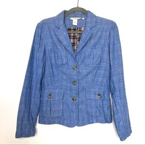 Sundance cotton blazer blue jacket